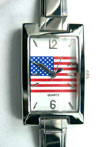 American Flag Face Watch  Click to enlarge