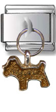 Dangle Dog Italian Charm  Click to enlarge