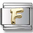 Disney letter F Italian charm  Click to enlarge