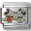 Mickey and Minnie Disney Italian charm  Click to enlarge