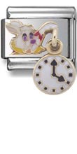 Rabbit With Clock Disney Italian charm  Click to enlarge