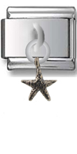 Starfish Sterling Silver Italian Charm  Click to enlarge