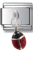Ladybug Sterling Silver Italian Charm  Click to enlarge