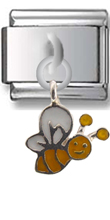 Bee Sterling Silver Italian Charm  Click to enlarge