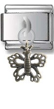 Butterfly Sterling Silver Italian Charm  Click to enlarge