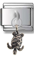 Turtle Sterling Silver Italian Charm  Click to enlarge