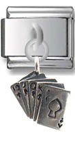 Cards Sterling Silver Italian Charm  Click to enlarge