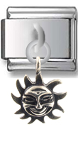 Sun Sterling Silver Italian Charm  Click to enlarge