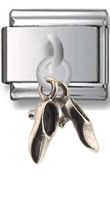 Dress Shoes Sterling Silver Italian Charm  Click to enlarge