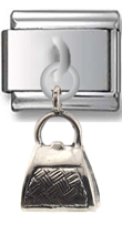 Purse Sterling Silver Italian Charm  Click to enlarge