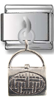 Lady Bag Sterling Silver Italian Charm  Click to enlarge