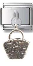 Handbag Sterling Silver Italian Charm  Click to enlarge