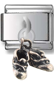 Baby Boots Sterling Silver Italian Charm  Click to enlarge