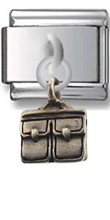Briefcase Sterling Silver Italian Charm  Click to enlarge