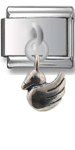 Duck Sterling Silver Italian Charm  Click to enlarge