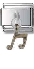 Note Sterling Silver Italian Charm  Click to enlarge