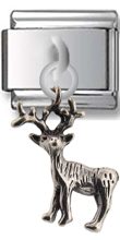 Deer Sterling Silver Italian Charm  Click to enlarge