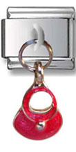 Dangle Red Bag Italian Charm  Click to enlarge