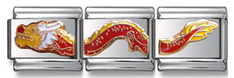 Chinese Dragon Italian Charm  Click to enlarge