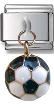 Dangle Soccer Ball Italian Charm  Click to enlarge